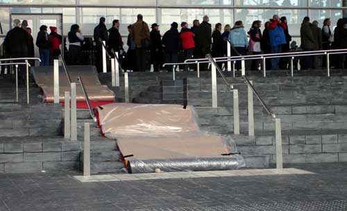 red carpet at Senedd