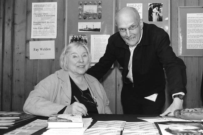 Fay Weldon & Peter Finch
